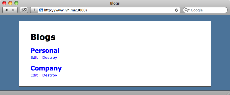 The subdomain www now shows the home page.