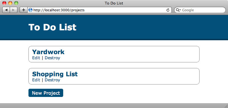 Our todo application.