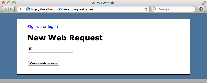 Our web request application.